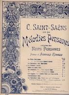 """C.Saint-Saëns Mélodies Persanes Poème Armand Renaud """"Le Solitaire"""" Piano Op.26 Editeurs A.Durand & Fils  BE - Scores & Partitions"""