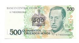 Brazil - 500 Cruzados Novos - 500 CruzeIros Countermark - UNC - Brazil