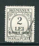 ROUMANIE- Taxe Y&T N°83- Oblitéré - Segnatasse