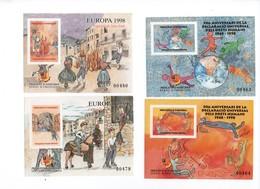 ANDORRE -Viguerie Episcopale- 1998 -N++  - Lot De 5 Blocs Feuillets ( Europa- Droits Humains)  Sup - Francobolli