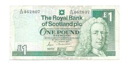 United Kingdom / Great Britain - Elizabeth II - 1 Pound - Royal Bank Of Scotland - Schotland