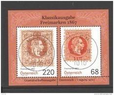 """Österreich 2017: Block """"Freimarken 1867 Gestempelt (siehe Foto/Scan) - 1945-.... 2. Republik"""