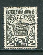 ROUMANIE- Taxe Y&T N°92- Oblitéré - Segnatasse