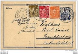17-21 - Entier Avec Affranchissement Complémentaire Envoyée De Landau Pflaz 1923 - Allemagne