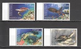 XX539 2020 RAROTONGA SEA TURTLES OF THE WORLD MARINE LIFE REPTILES SET MNH - Turtles