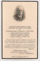 AVISMORTUAIRE COMMANDANT CHARLES LOUVEL / CROIX DE GUERRE C352 - Obituary Notices
