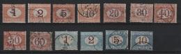 1870 Segnatasse Serie Cpl US - Usati