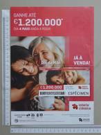 PORTUGAL   2020 - CARTAZ DE LOTARIA CLASSICA - FORMATO A4 -  DOBRA AO MEIO -  2 SCANS  -  18ª  - (Nº35879) - Lottery Tickets
