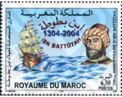 Ref. 152280 * MNH * - MOROCCO. 2004. 700th ANNIVERSARY OF THE BIRTH OF IBN BATTUTA . 700 ANIVERSARIO DEL NACIMIENTO DE I - Marokko (1956-...)