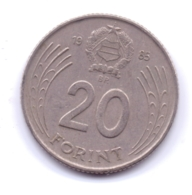 MAGYAR 1985: 20 Forint, KM 630 - Hongarije