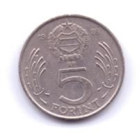 MAGYAR 1986: 5 Forint, KM 635 - Hongarije