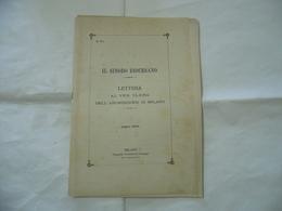 IL SINODO DIOCESANO LETTERA AL VENERANDO CLERO DIOCESI DI MILANO 1902. - Religion