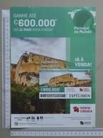 PORTUGAL   2020 - CARTAZ DE LOTARIA CLASSICA - FORMATO A4 -  DOBRA AO MEIO -  2 SCANS  -  19ª  - (Nº35880) - Lottery Tickets