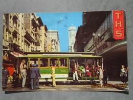 CP USA états Unis  SAN FRANCISCO Californie -  Le Tramway  - Cable Car Turntable San Francisco California   1963 - San Francisco