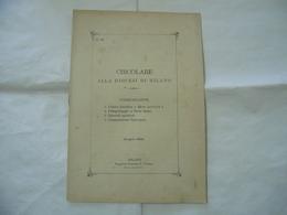 CIRCOLARE ALLA DIOCESI DI MILANO 1902 LETTERA ENCICLICA PRELLEGRINAGGIO TERRA S. - Religion