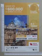 PORTUGAL   2020 - CARTAZ DE LOTARIA CLASSICA - FORMATO A4 -  DOBRA AO MEIO -  2 SCANS  -  20ª  - (Nº35881) - Lottery Tickets