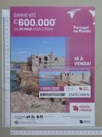 PORTUGAL   2020 - CARTAZ DE LOTARIA CLASSICA - FORMATO A4 -  DOBRA AO MEIO -  2 SCANS  -  21ª  - (Nº35882) - Lottery Tickets
