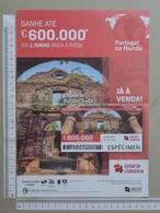 PORTUGAL   2020 - CARTAZ DE LOTARIA CLASSICA - FORMATO A4 -  DOBRA AO MEIO -  2 SCANS  -  22ª  - (Nº35883) - Lottery Tickets