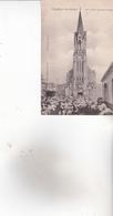 CPA 95 ENGHIEN ,Mlle Céline Lhérault à L'église..(1904) Animée...( Petite Déchirure Haut,droit.) - Enghien Les Bains