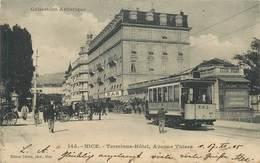 NICE - Terminus Hôtel, Avenue Thiers, Tramway. - Tramways