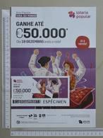 PORTUGAL   2019 - CARTAZ DE LOTARIA POPULAR - FORMATO A4 -  DOBRA AO MEIO -  2 SCANS  -  51ª  - (Nº35885) - Lottery Tickets