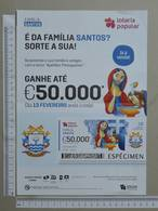 PORTUGAL   2020 - CARTAZ DE LOTARIA POPULAR - FORMATO A4 -  DOBRA AO MEIO -  2 SCANS  -  7ª  - (Nº35888) - Lottery Tickets
