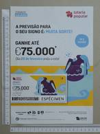 PORTUGAL   2020 - CARTAZ DE LOTARIA POPULAR - FORMATO A4 -  DOBRA AO MEIO -  2 SCANS  -  8ª  - (Nº35889) - Lottery Tickets