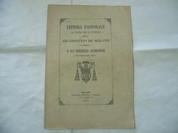 LETTERA PASTORALE CLERO  XIII CONGRESSO EUCARISTICO  DIOCESI DI MILANO 1895 - Religion