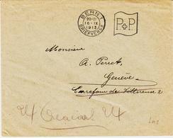 Suise, DeBern 1 Empreinte En Port Payé En 1913 Machine Flier TB - Marcophilie