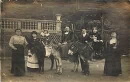 ROBINSON - Carte Photo Javelle, Promenade Avec  Des ânes. - Le Plessis Robinson