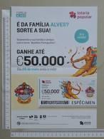 PORTUGAL   2020 - CARTAZ DE LOTARIA POPULAR - FORMATO A4 -  DOBRA AO MEIO -  2 SCANS  -  22ª  - (Nº35898) - Lottery Tickets