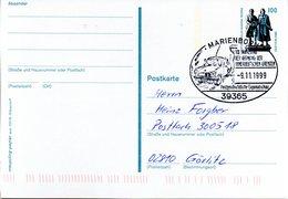 """BRD Amtliche Ganzsachen-Postkarte P 157  WSt """"Goethe-Schiller-Denkmal, Weimar"""" 100 (Pf), SSt. 9.11.1999 MARIENBORN - Postcards - Used"""