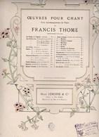 Francis Thomé Les Perles D'Or Mélodie Chant Piano Poésie De De Vaux Musique F.Thomé  N°1  Ed. Henry Lemoine & Cie  BE - Scores & Partitions