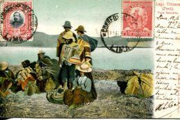 N°9458 -cpa Lago Titicaca -Tipos Naturales- - Peru