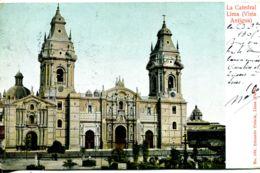 N°9473 -cpa Lima -Antigua- La Catedral- - Peru