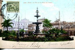 N°9478 -cpa Lima -la Pita En La Plaza De Armas- - Peru