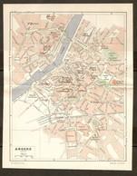 CARTE PLAN 1948 - ANGERS - CASERNES CHAPELLE De L'ESVIERE LOGIS BARRAULT MUSÉE - Topographical Maps