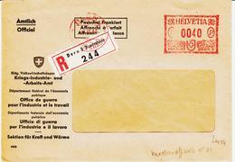 Suise, De BERN 1  En 1944 Affranchis à Forfait  Empreinte Rouge  TB - Marcophilie