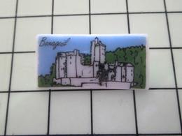 115A Pin's Pins / Beau Et Rare / THEME : VILLES / Céramique Ou Porcelaine Limoges VIEUX CHATEAU BONAGUIL - France Telecom
