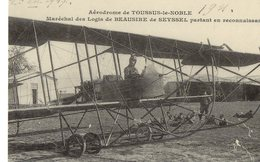 78 TOUSSUS LE NOBLE Aérodrome Maréchal Des Logis Beausire De Seyssel Partant En Reconnaissance (Cartes D'Autrefois) - Toussus Le Noble