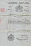 STAD LEUVEN * UITTREKSEL GEBOORTEAKTE DD 1927 * GEBOREN 1896 * ALPHONSE VERBIEST * - Birth & Baptism
