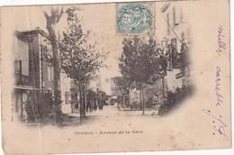 FRANCE CARTE POSTALE DE ORAISON  AVENNUE DE LA GARE - Autres Communes
