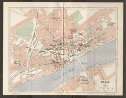 CARTE PLAN 1948 - BLOIS - BASILIQUE Des 3 AVE MARIA CASERNES PYRAMIDE BUTTE Des CAPUCINS FAUBOURGS - Topographical Maps