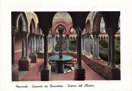 Cartolina Monreale Convento Dei Benedettini Interno Del Chiostro - Palermo