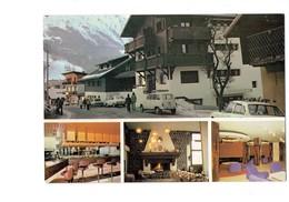 Cpm -74  > Les Houches - MONT LACHAT Maison Vacances Comité Entreprise R.A.T.P. Voiture 4L RENAULT Bar Cheminée - Les Houches