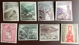 Andorra Spanish 1963 Landscapes Definitives Set MNH - Andorra Spagnola