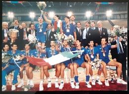 La Nazionale Italiana Campione Del Mondo 1994 Carte Postale - Volleyball
