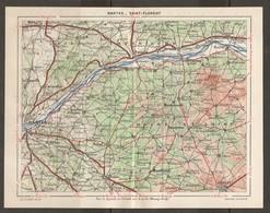 CARTE PLAN 1948 - RÉGION De NANTES à SAINT FLORENT - LOIRE INFÉRIEURE MAINE Et LOIRE - CARQUEFOU BEAUPRÉAU CLISSON - Topographical Maps