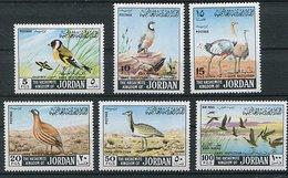 (CL 29 - P 7) Jordanie * N° 575 Série Incomplète - Oiseaux - Giordania