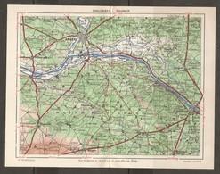 CARTE PLAN 1948 - RÉGION De CHALONNES SAUMUR - MAINE Et LOIRE CHEMILLÉ LONGUÉ BEAUFORT VIHIERS - Topographical Maps